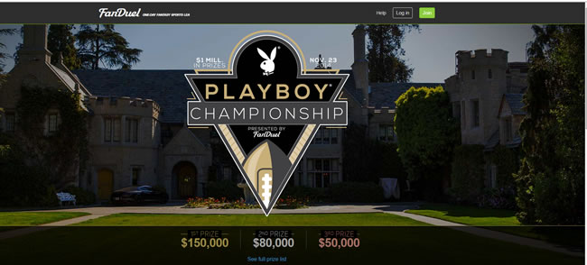 Win a trip to the Playboy Mansion at FanDuel - Qualify for $5